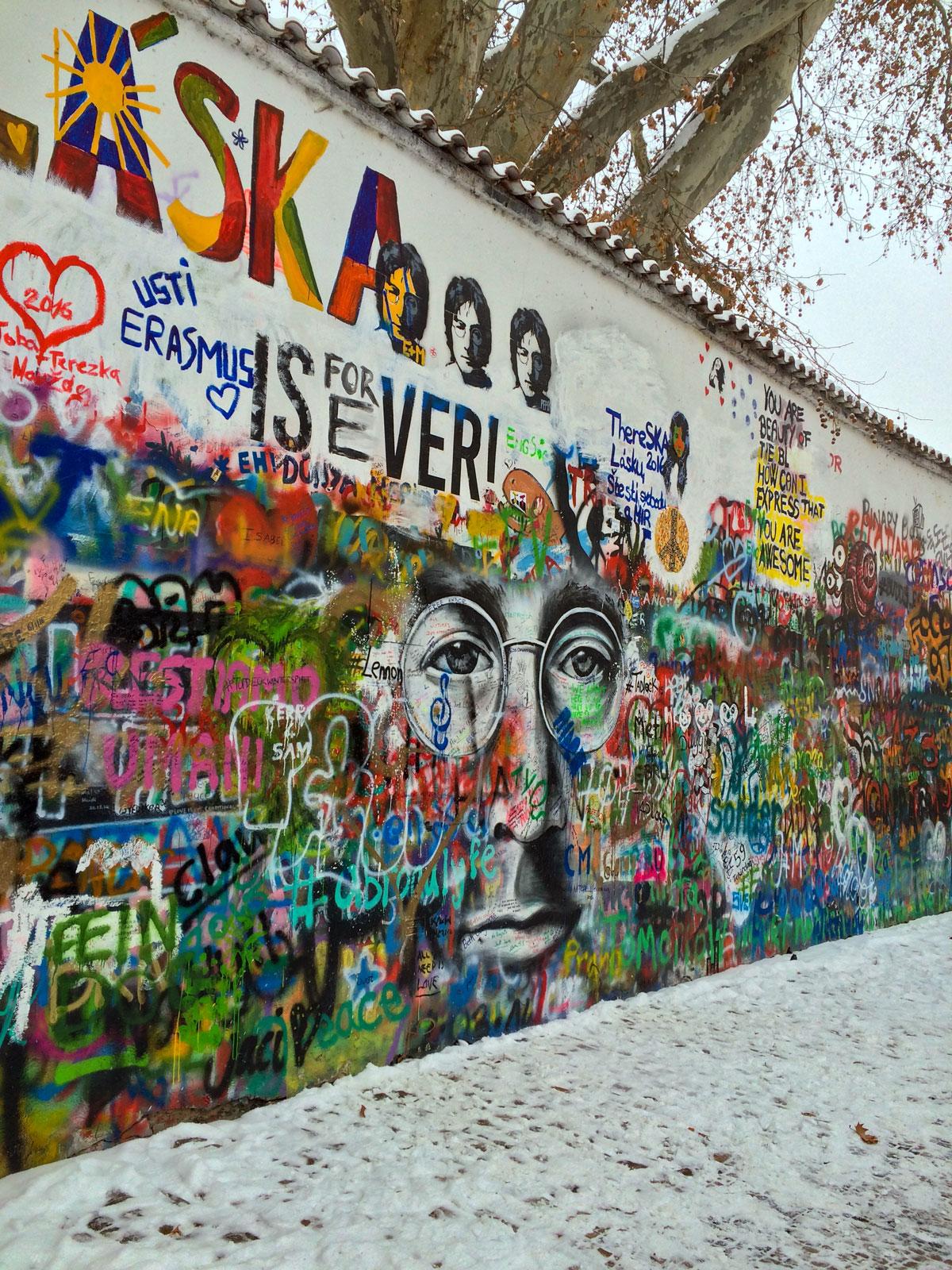 John Lennon Wall Prag