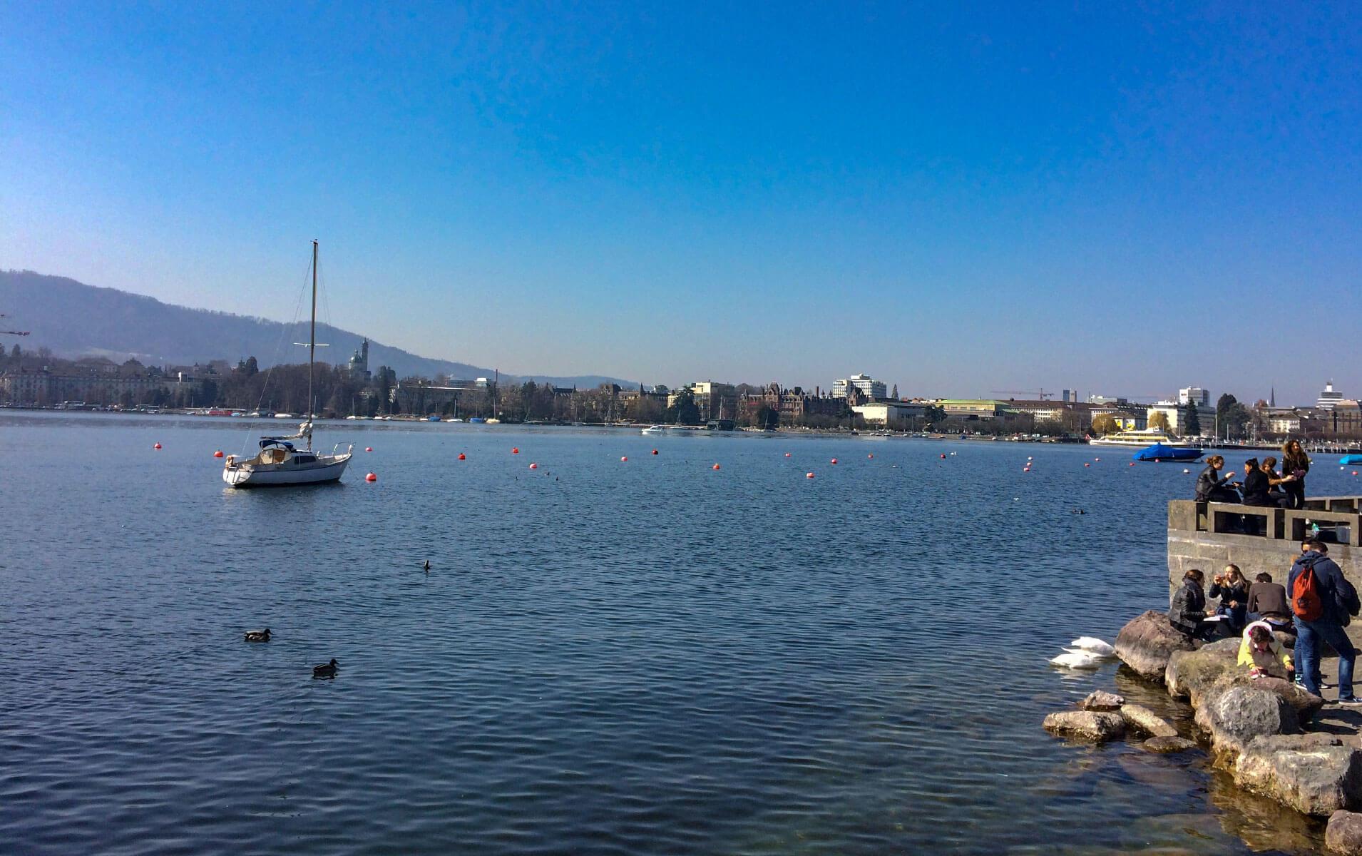 Boot auf dem Zürichsee