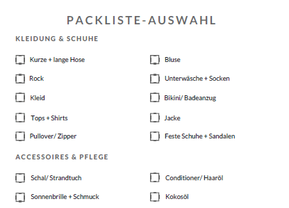 packliste zum download