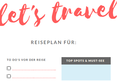 gratis reiseplan zum download