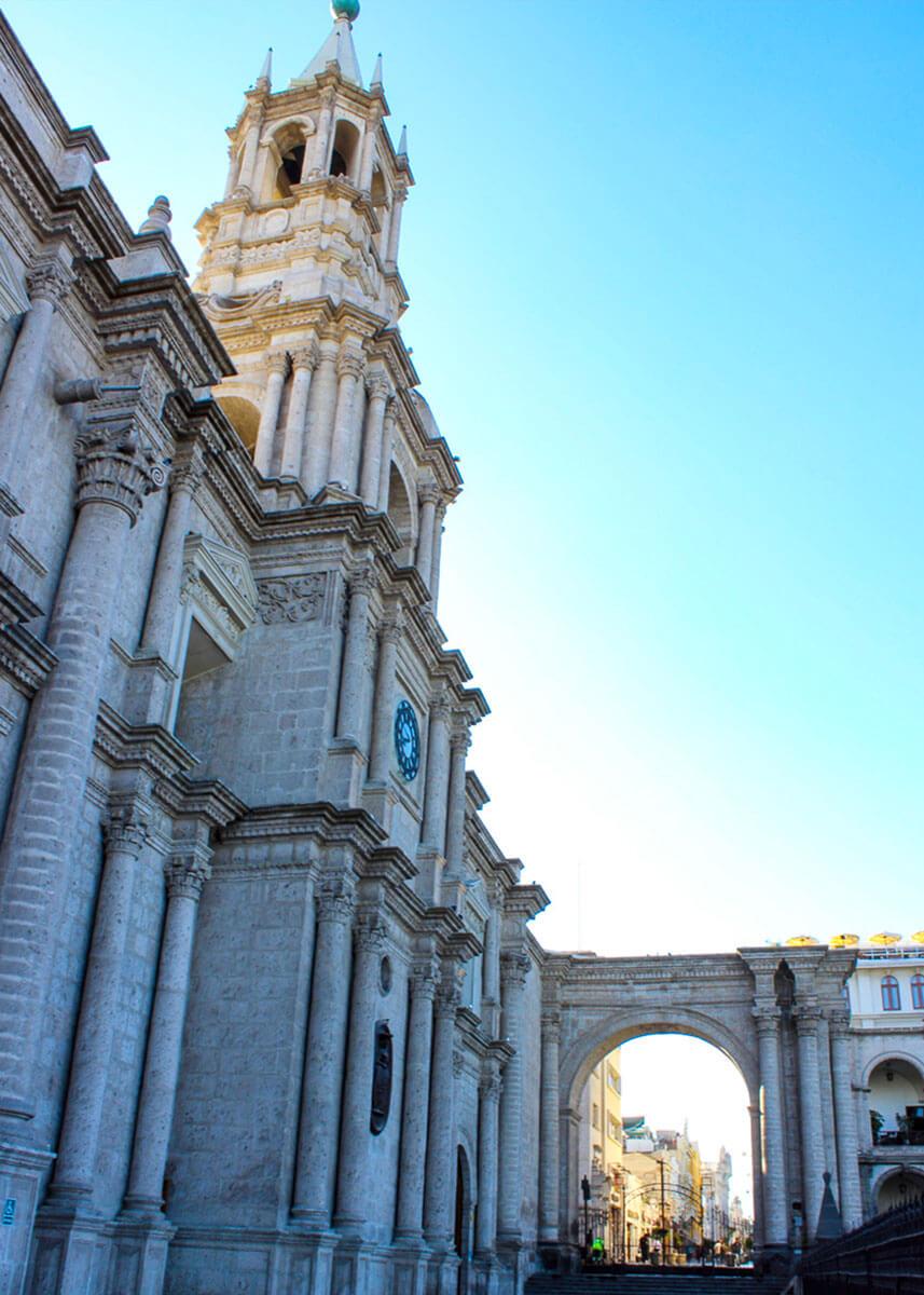 Blick auf die Kathedrale in Arequipa