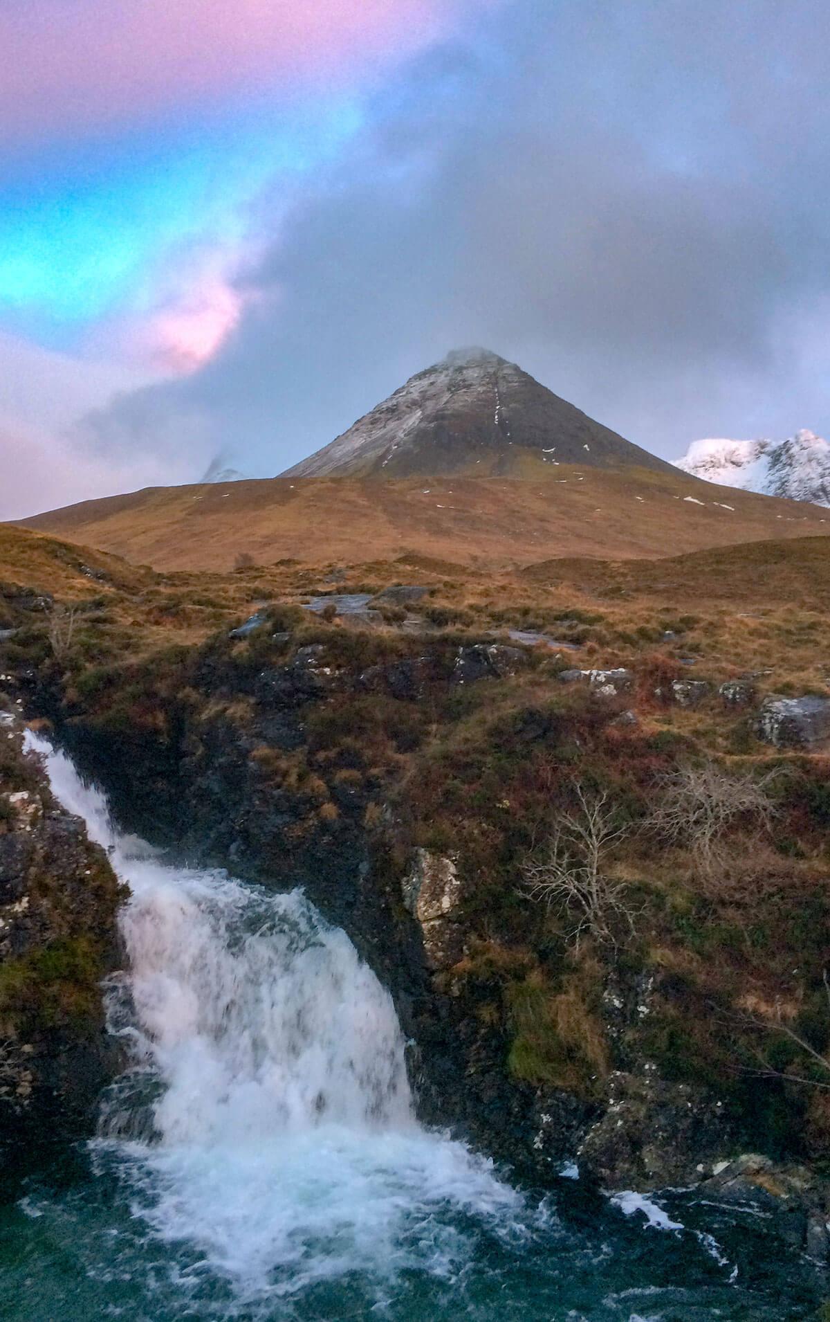 Sonnenuntergang Skye und Fairy Pool