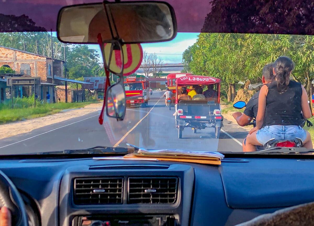 Fahrt zwischen Iquitos und Nauta