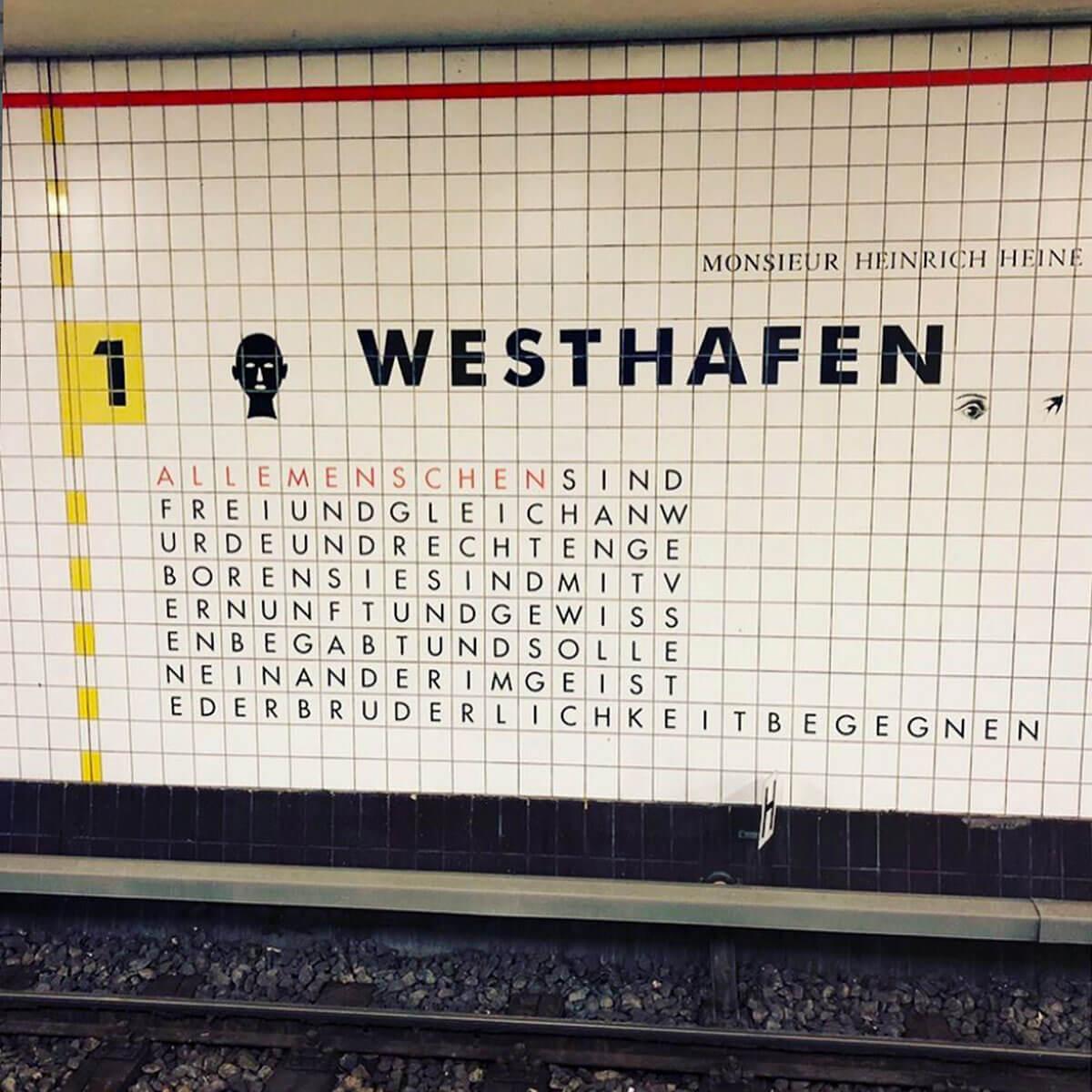 ITB Berlin, Bahnstation Westhafen