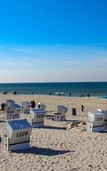 Strandkörbe Meer Sylt