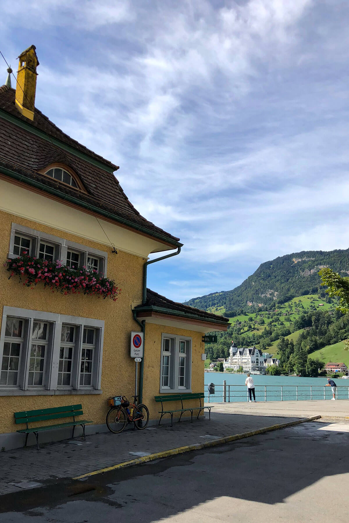 Vitznau Schweiz Bahnhof