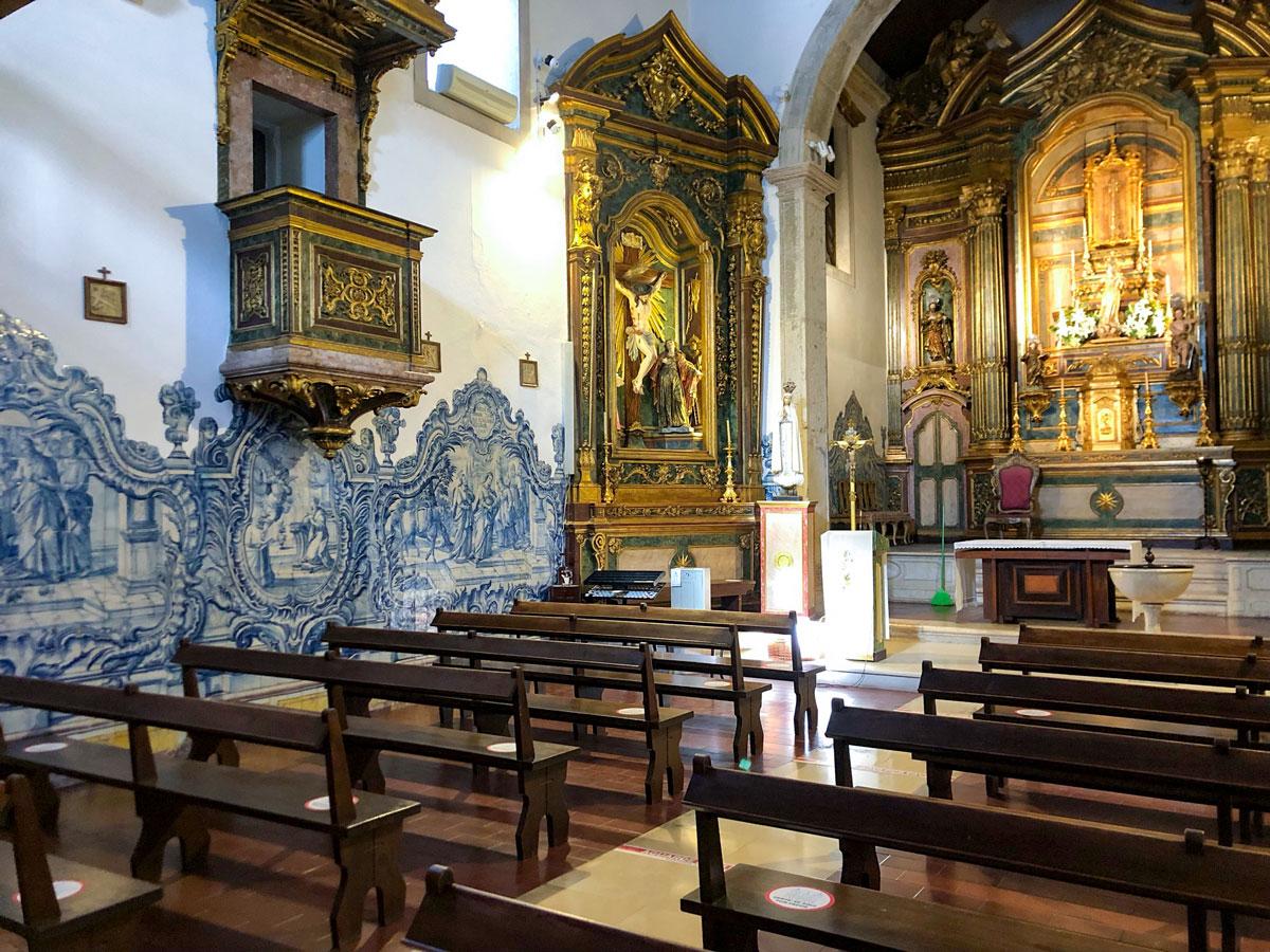 Cacilhas Kirche Innenansicht
